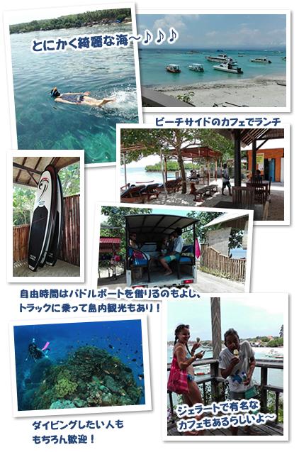 ヌサペニダ・レンボンガン島「シュノーケリング+マングローブ探検」ツアー