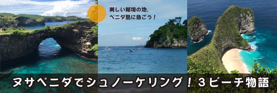 ヌサペニダ島 / シュノーケリング3 Beach物語
