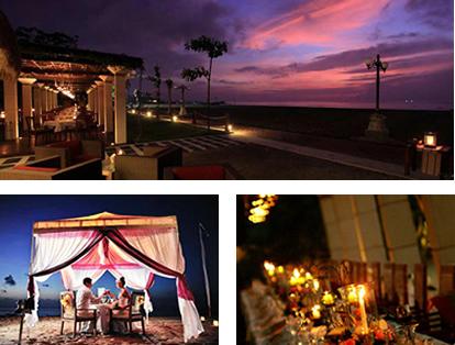 海辺でのサンセットディナー【MaJoly】|バリ舞踊を見ながら優雅にディナー