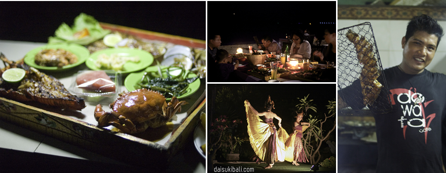 ジンバランビーチで新鮮で美味しいシーフードバーベキュー【デワタ・カフェ】|バリ舞踊を見ながら優雅にディナー